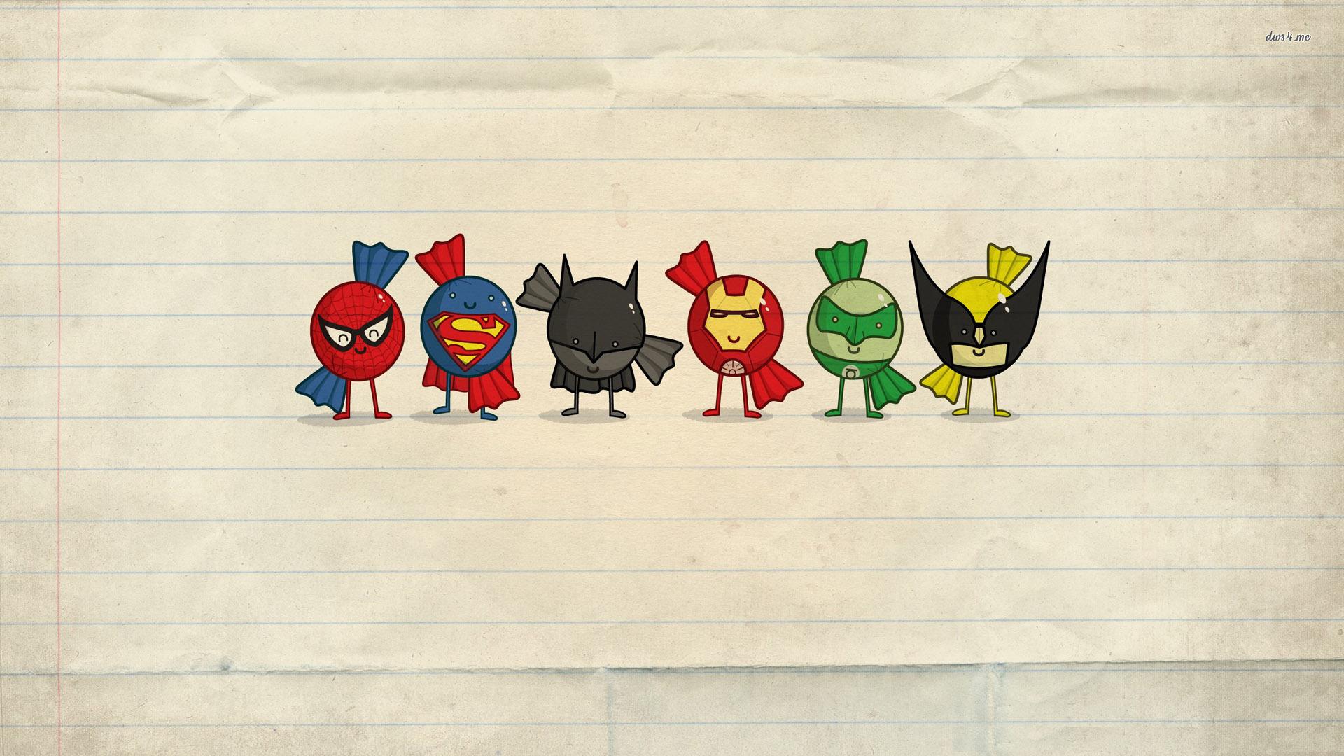 Superhero Logos Wallpaper Superhero candy hd wallpaper 1920x1080
