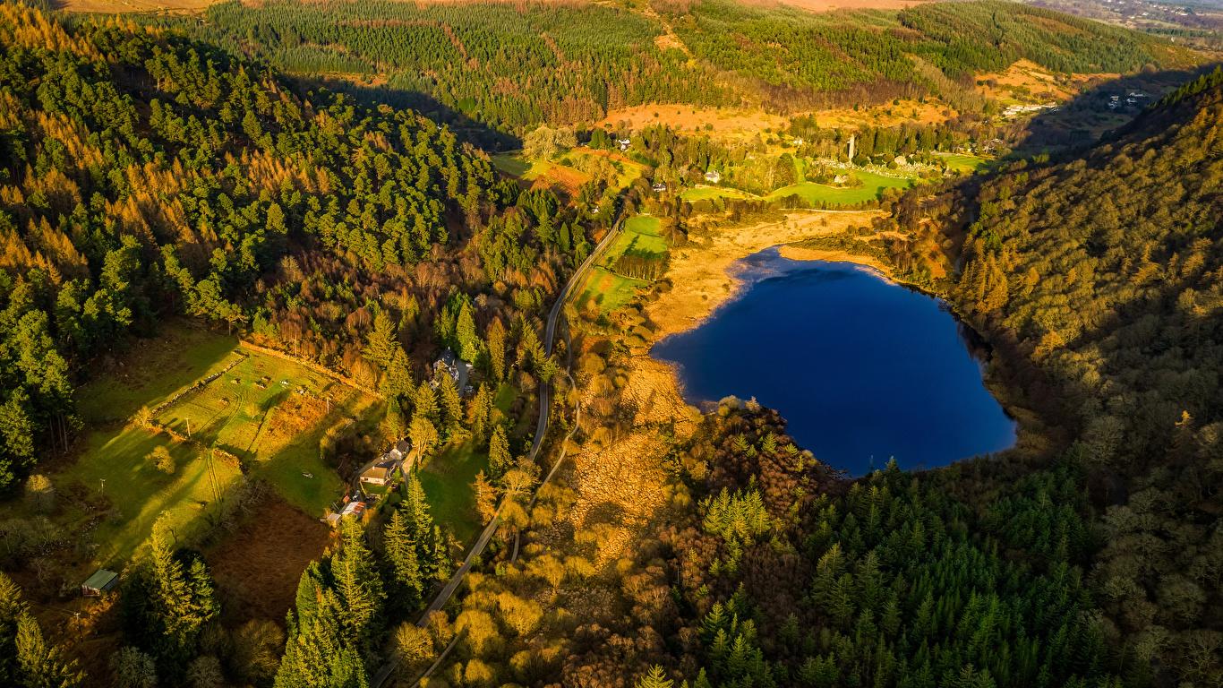 Photos Ireland Glendalough Wicklow Mountains National Park 1366x768 1366x768