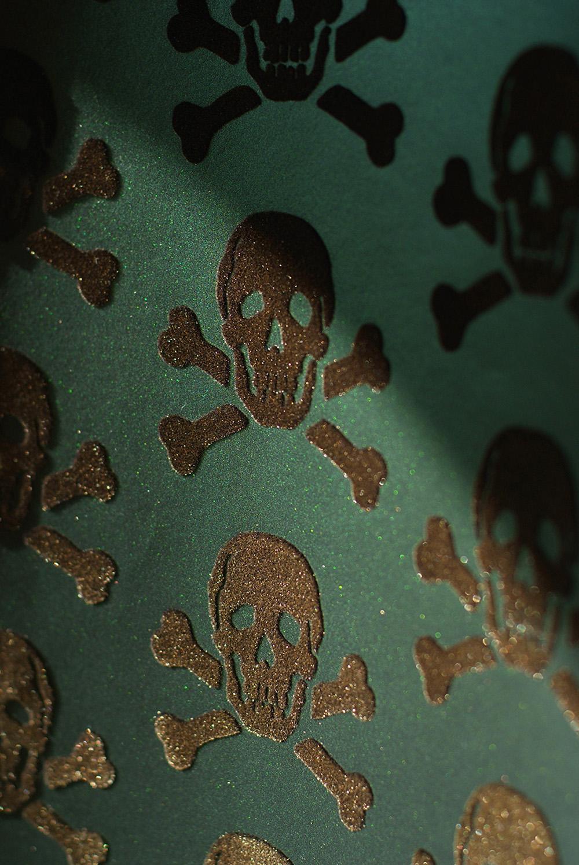 skulls Beware the Moon Hypnotic Wallpaper Made in England 1000x1495