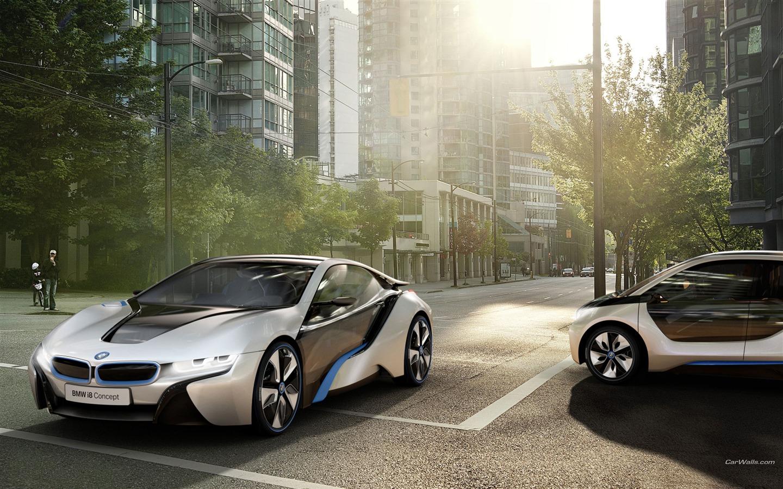 BMW i3 i8 brand concept car HD wallpaper   1440x900 wallpaper download 1440x900