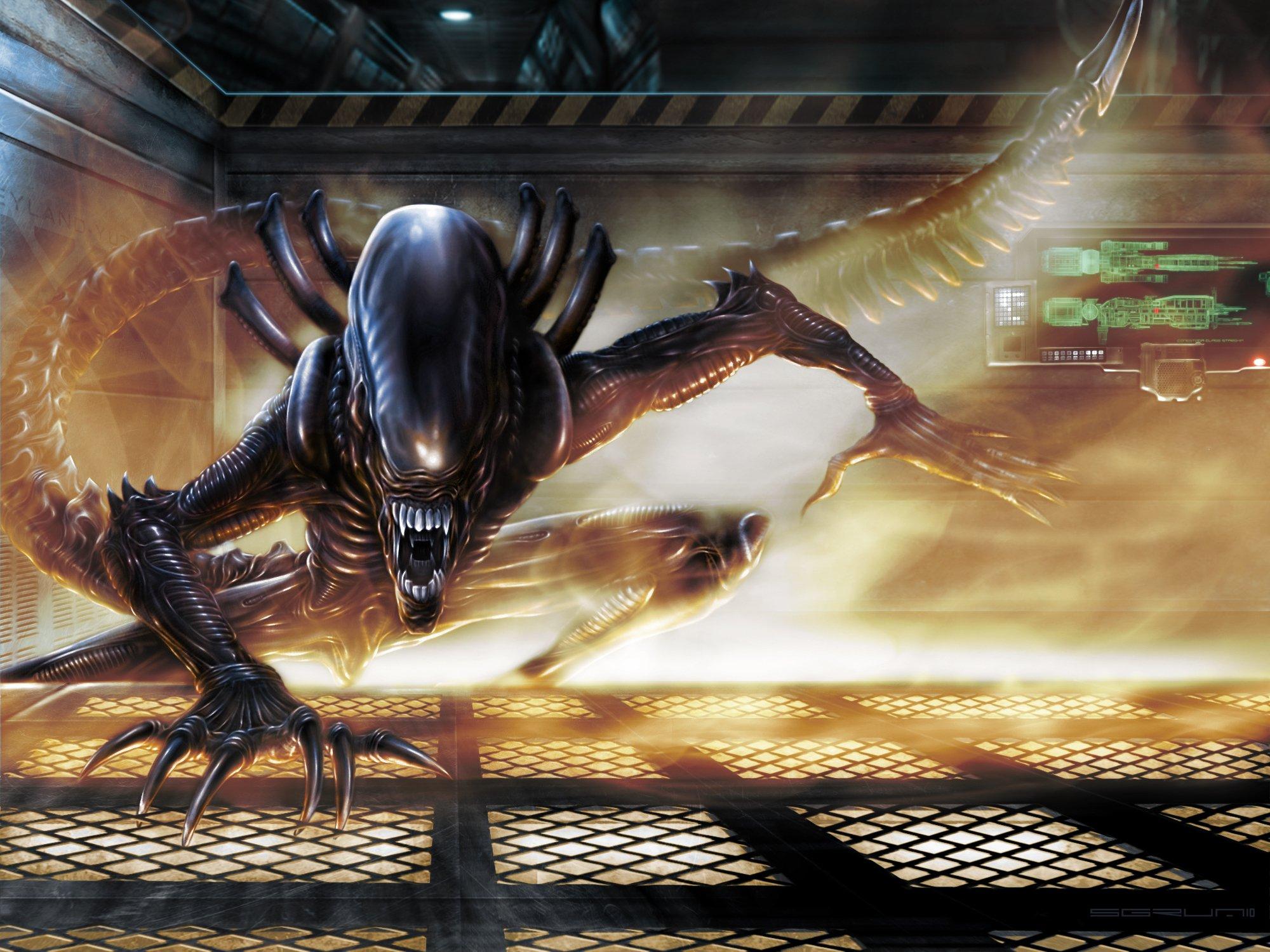 Alien Resurrection sci fi aliens wallpaper 2000x1500 74870 2000x1500