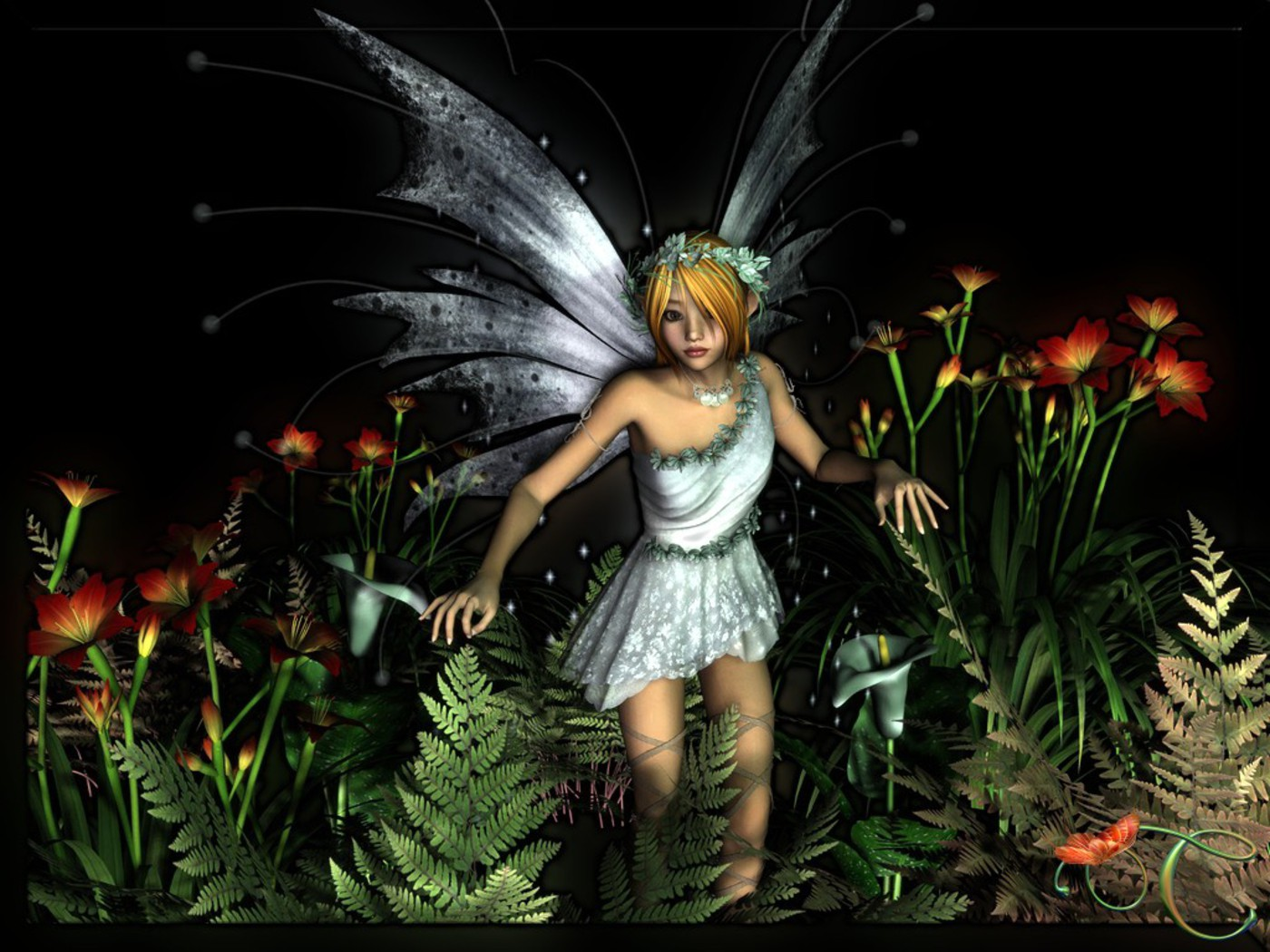 HD wallpapers Download 3D Fairy angels HD wallpapers 1400x1050 1400x1050