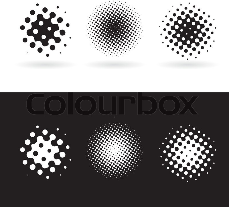 Stock vector of 'Background with black and white round spots Vector ...