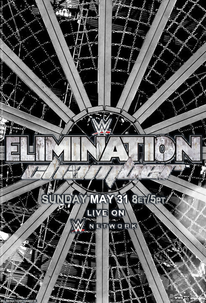 WWE Elimination Chamber Official Poster by Jahar145 on 682x1001