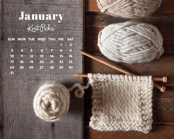 Knitting wallpaper   10 Terrific Calendar wallpapers for January 2016 600x480