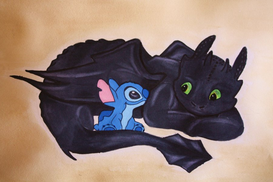 stitch and toothless by x kaitlin x 900x600