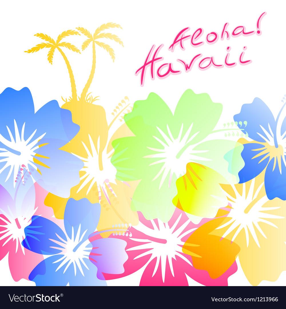Aloha Hawaii Background Royalty Vector Image 1000x1080