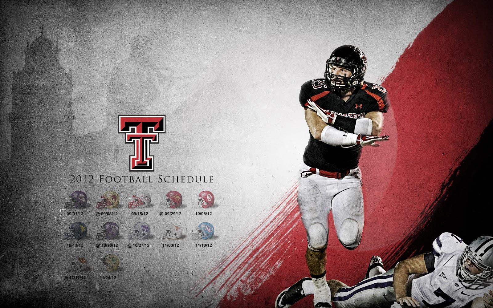 Texas Tech 2012 Football Schedule Paint Design Relay Wallpaper 1600x1000