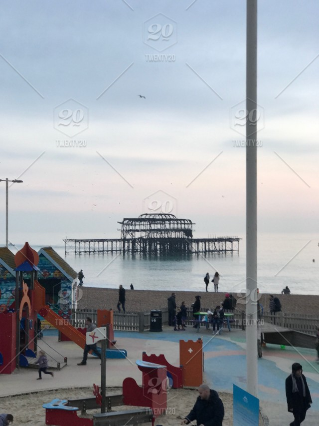 HOVE SEAFRONT PLAYGROUND WITH WEST PIER RUINS IN 640x853