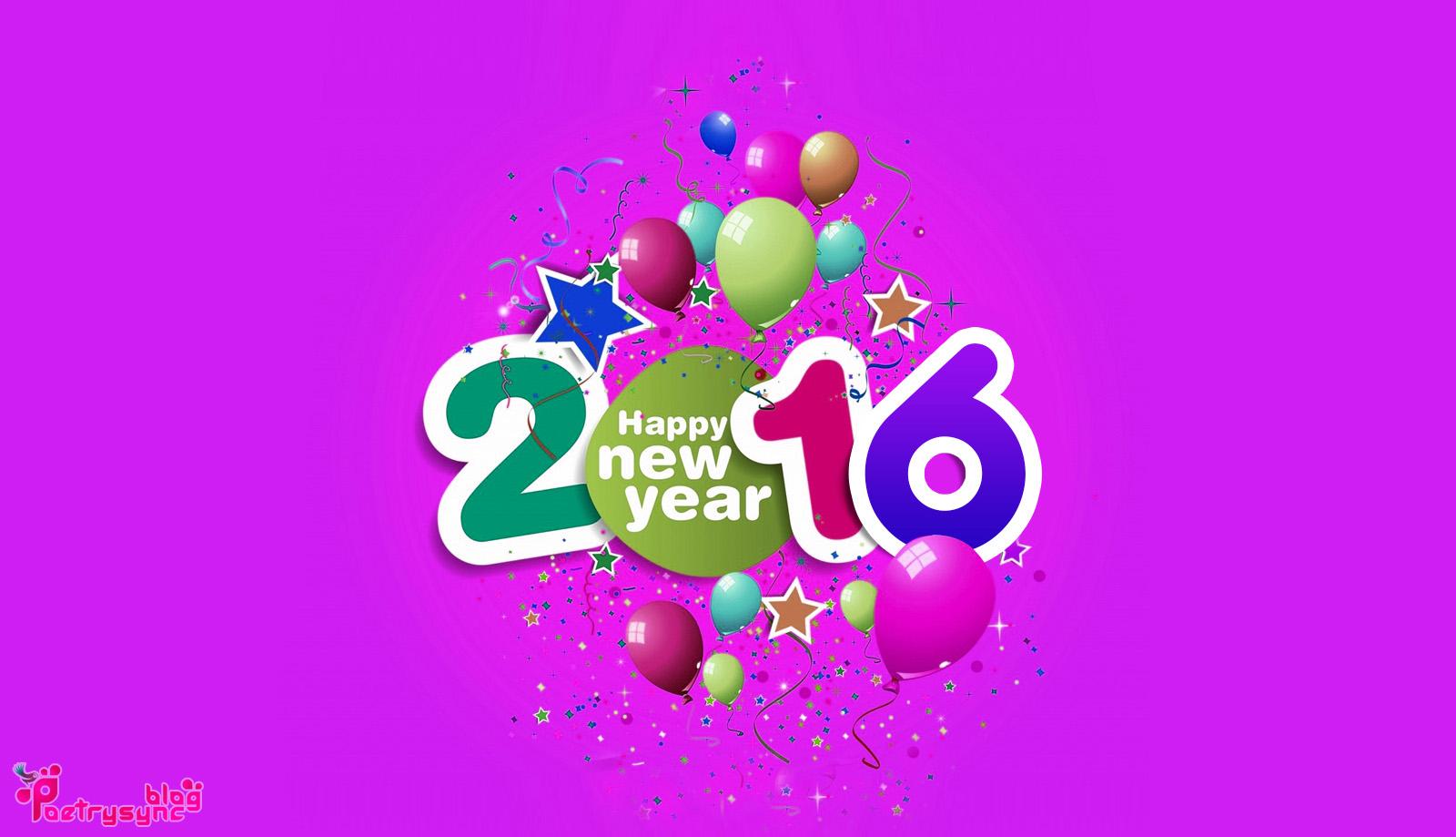 Happy New Year 2016 Desktop Wallpaper 1600x919