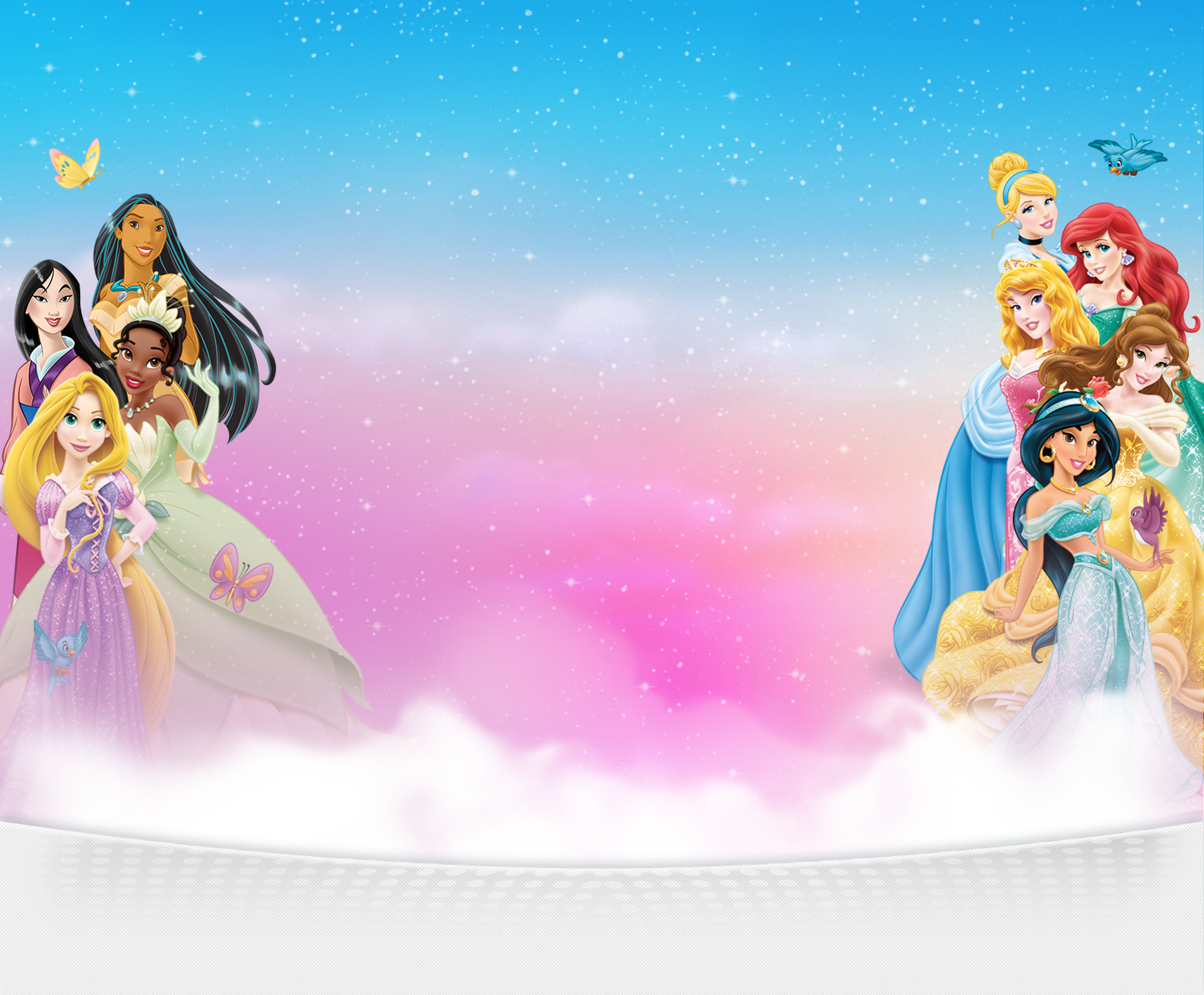 Disney Princess Background Tarpaulin Princess backg 1500x1240