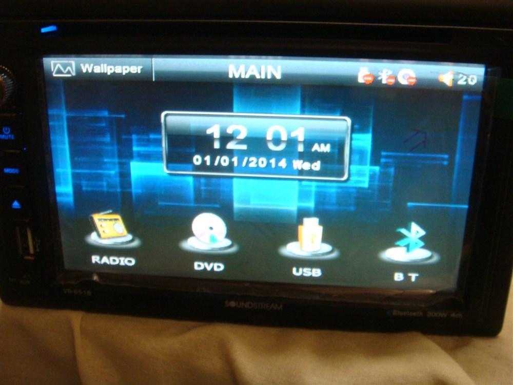 SOUNDSTREAM VR 651B 65 DUAL DIN TOUCHSCREEN IN DASH DVD PLAYER 1000x750