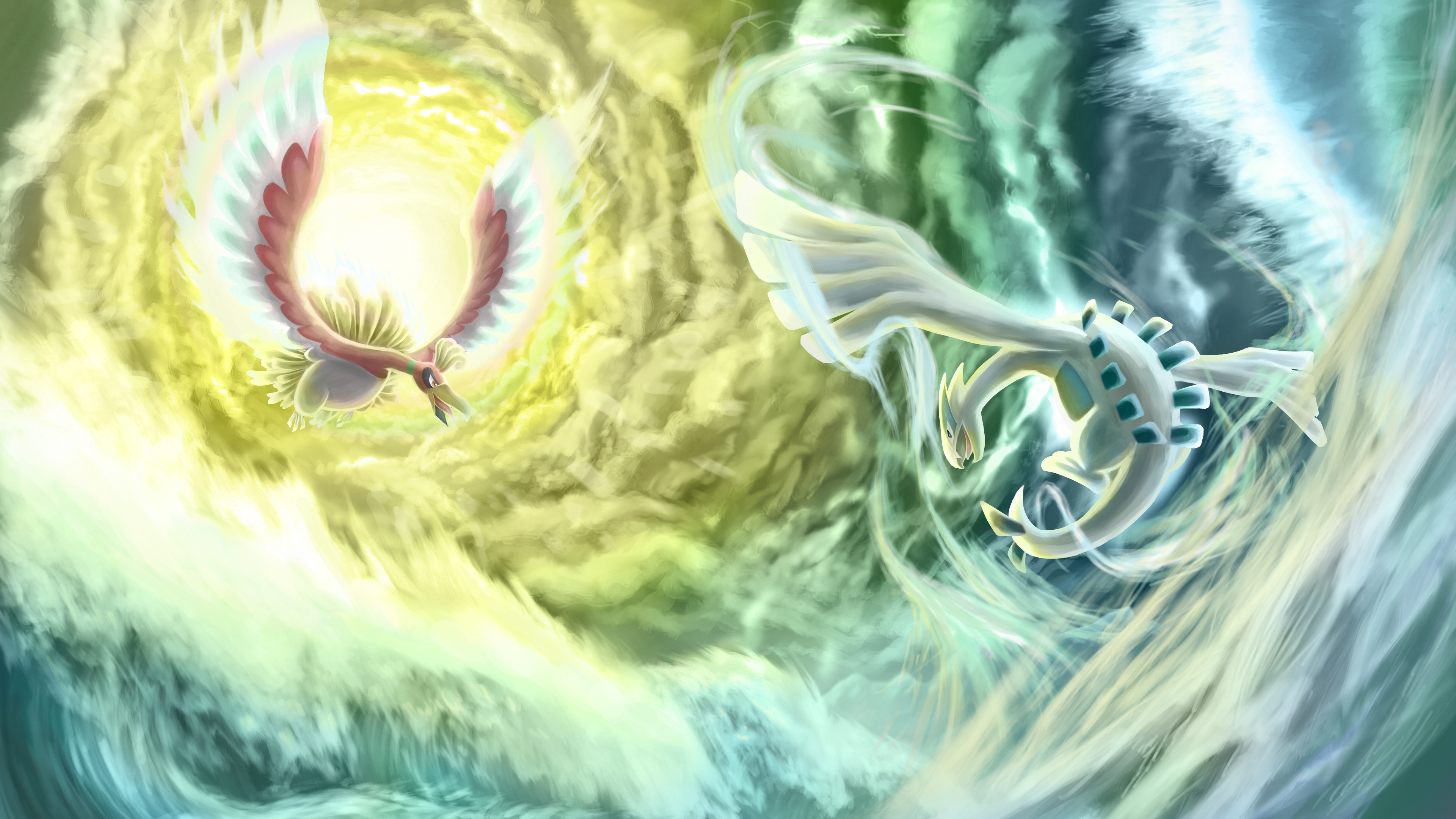 47+] HO OH and Lugia Wallpaper on