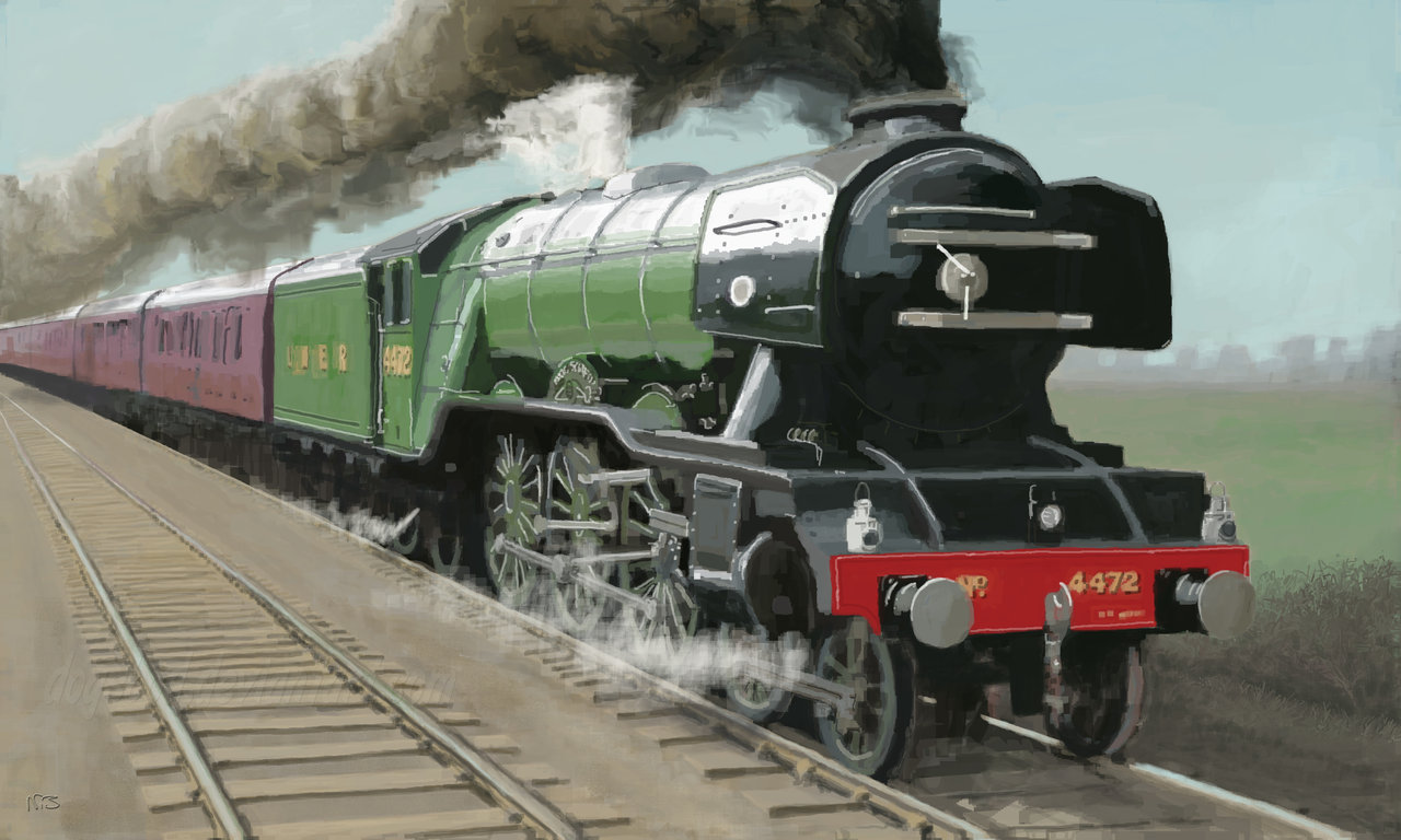 Flying Scotsman paintings 1280x768