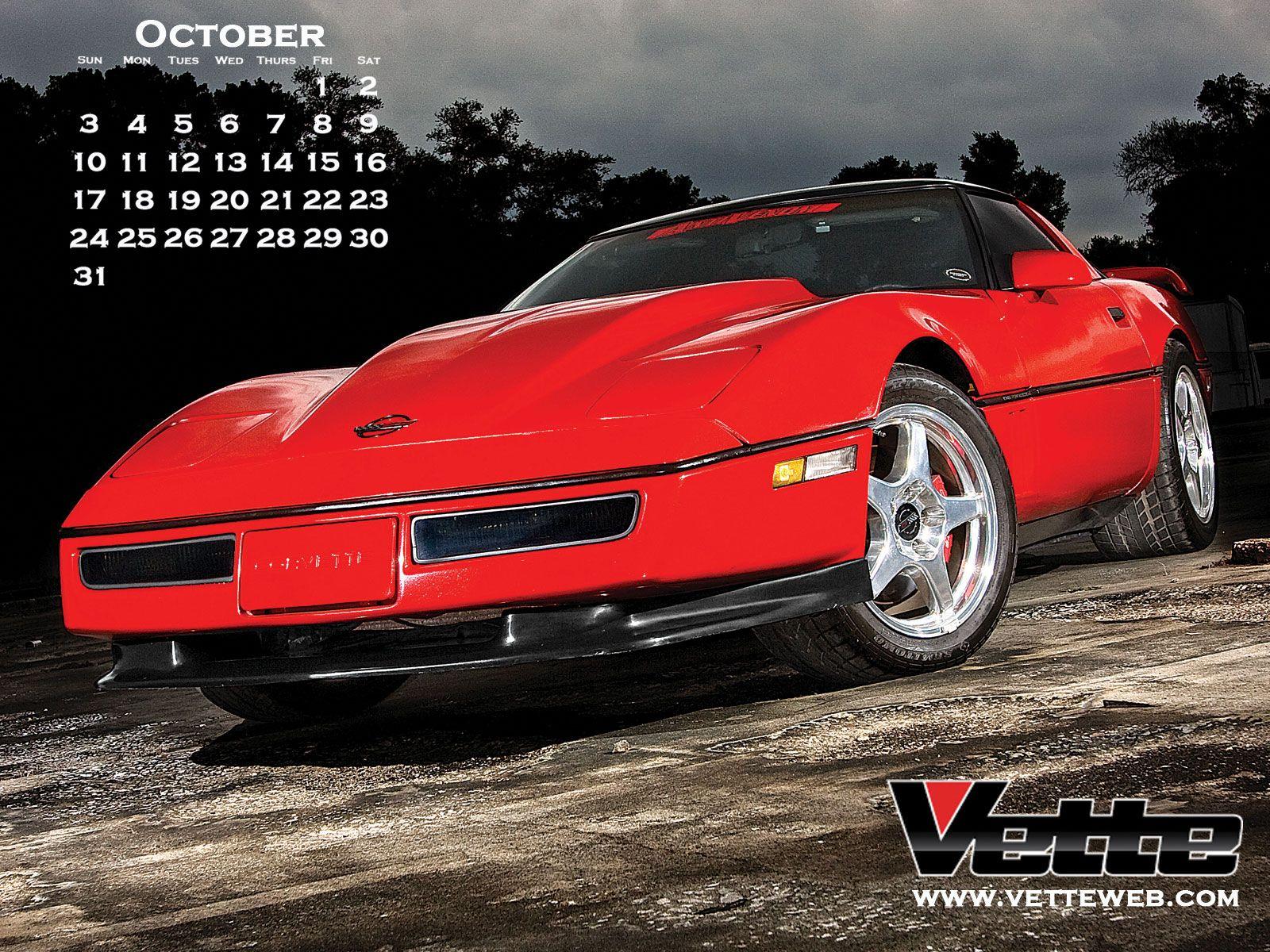 2010 October Calendar   Corvette Action Center   Corvette Forum 1600x1200