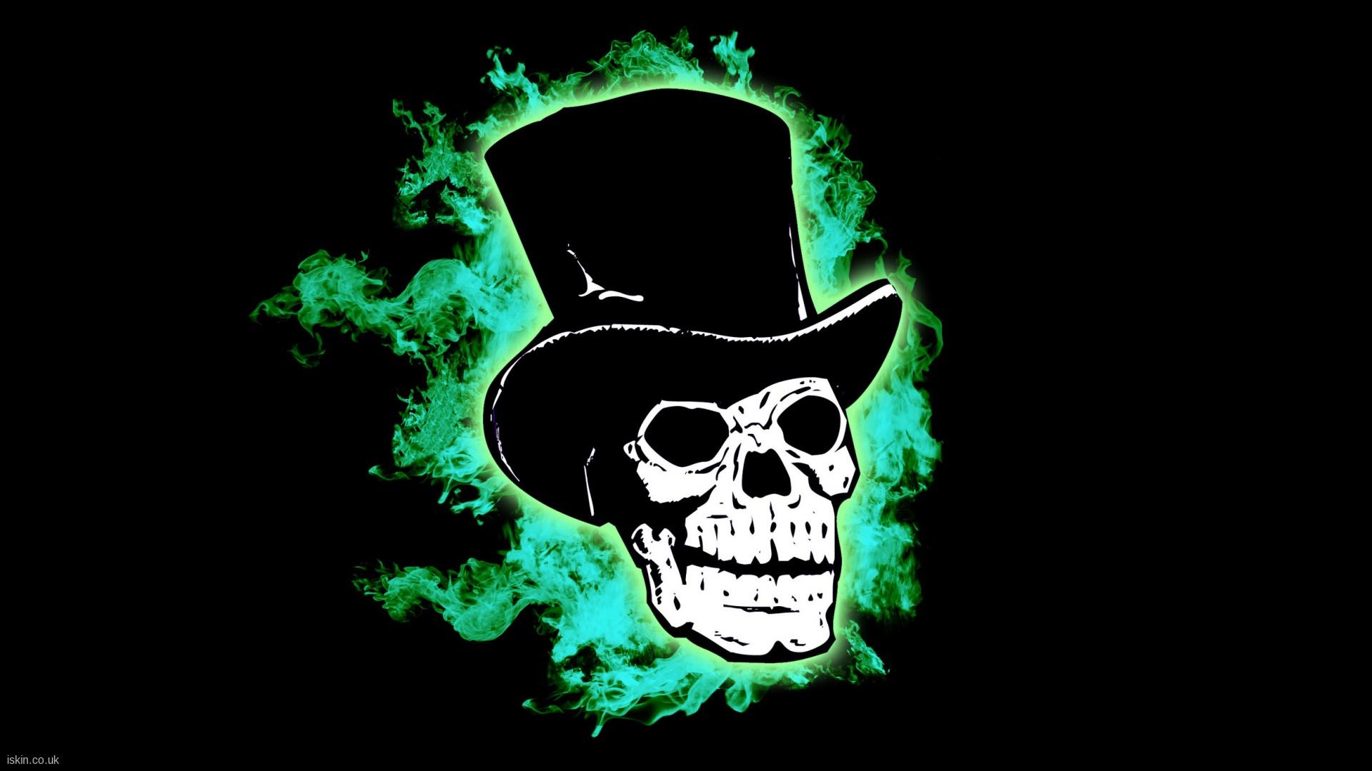 Skull Green Wallpapers 1920x1080