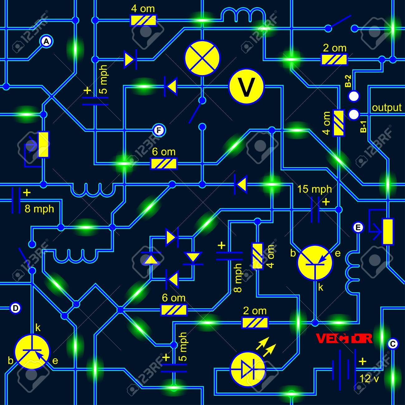 Seamless Background Of The Electrical Circuit Of A Device 1300x1300