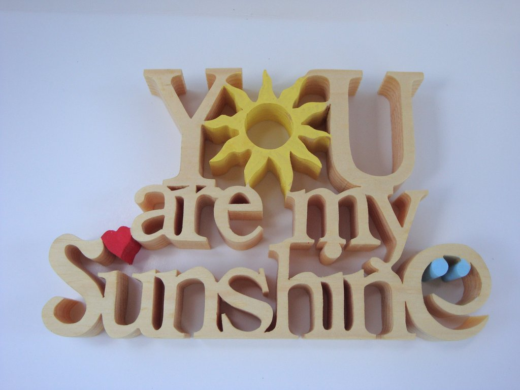 Wooden Ornament You Are My Sunshine   ThinkArtisan 1024x768