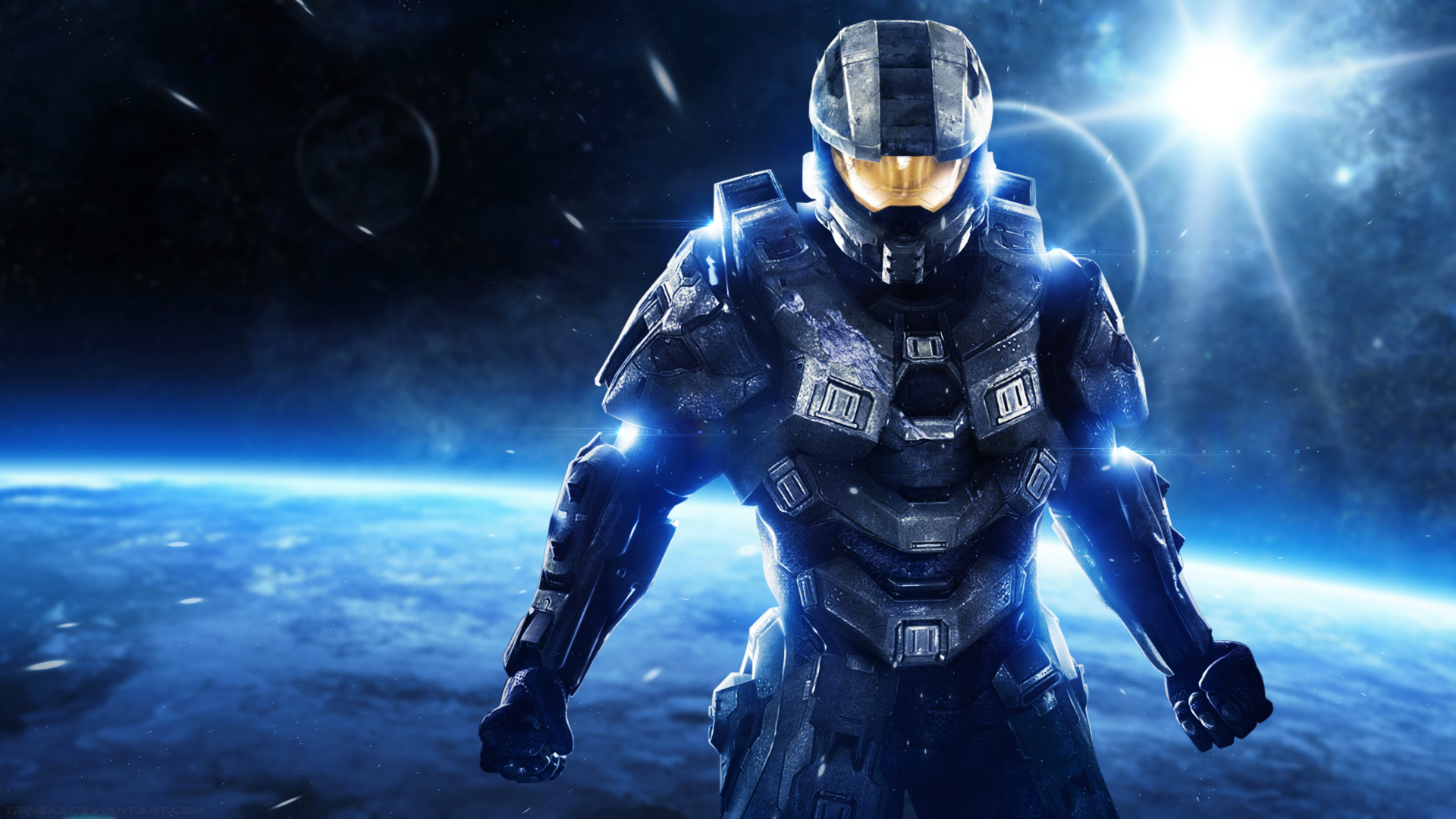 Halo Master Chief   Desktop Wallpaper by Trinexz 1920x1080