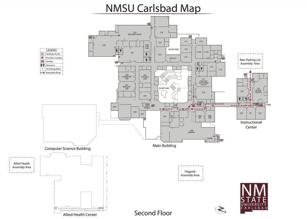 Free Download Campus Map Nmsu Carlsbad New Mexico State University