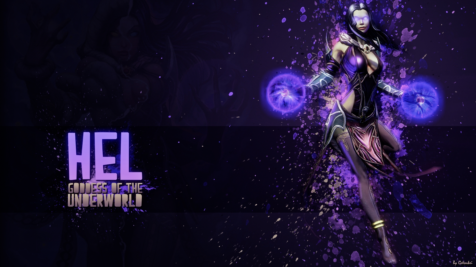 Hel Goddess of the Underworld   Wallpaper HD by Getsukeii on 1920x1080