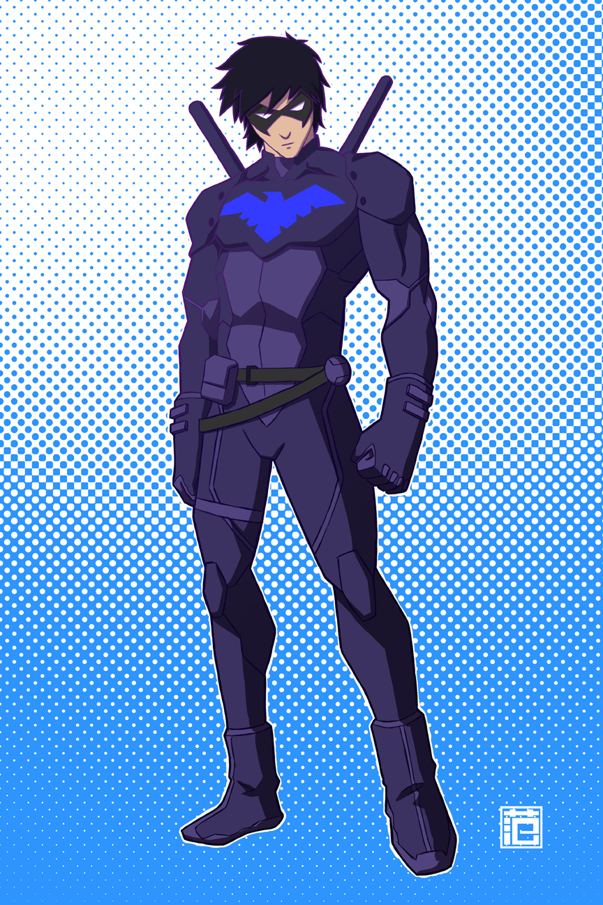 Young Justice   Nightwing by kawoXD 864x1296