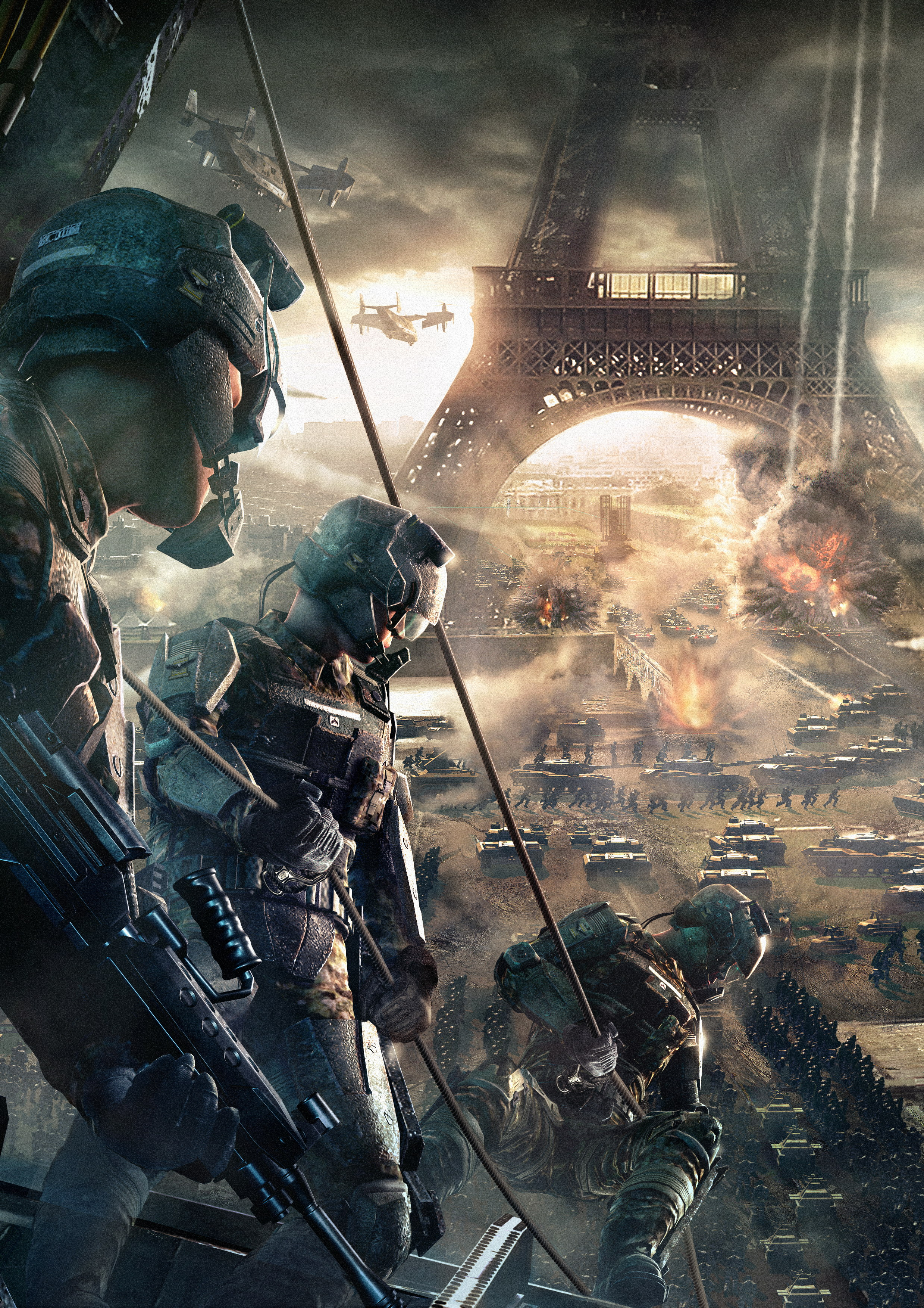 Eiffel Tower video games battles Tom Clancy Endwar Wallpapers 2477x3503