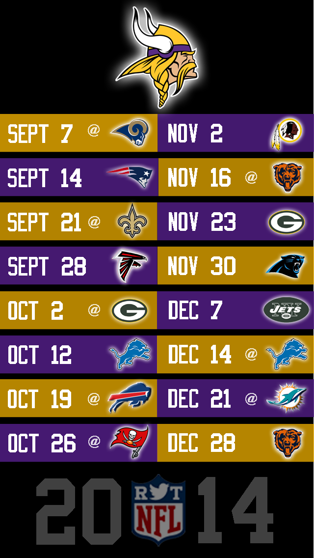 Vikings iPhone 5 NFL Wallpaper 640x1136