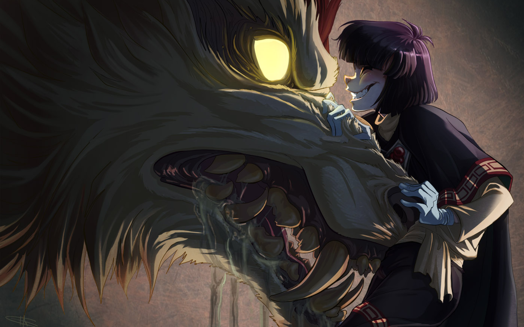 66 Anime Wolf Wallpaper On Wallpapersafari