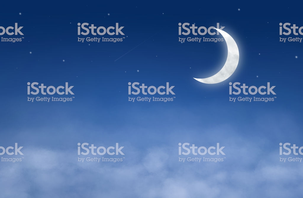 Backgrounds Night Sky With Stars Moon And Clouds Stock 1024x670