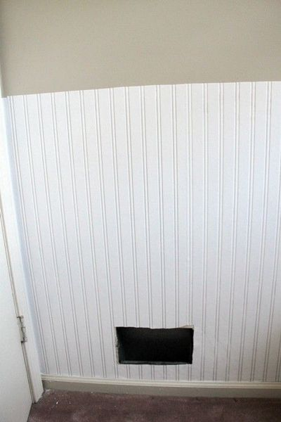 Prepasted Beadboard Wallpaper   would work wonderfully in the bathroom 400x600