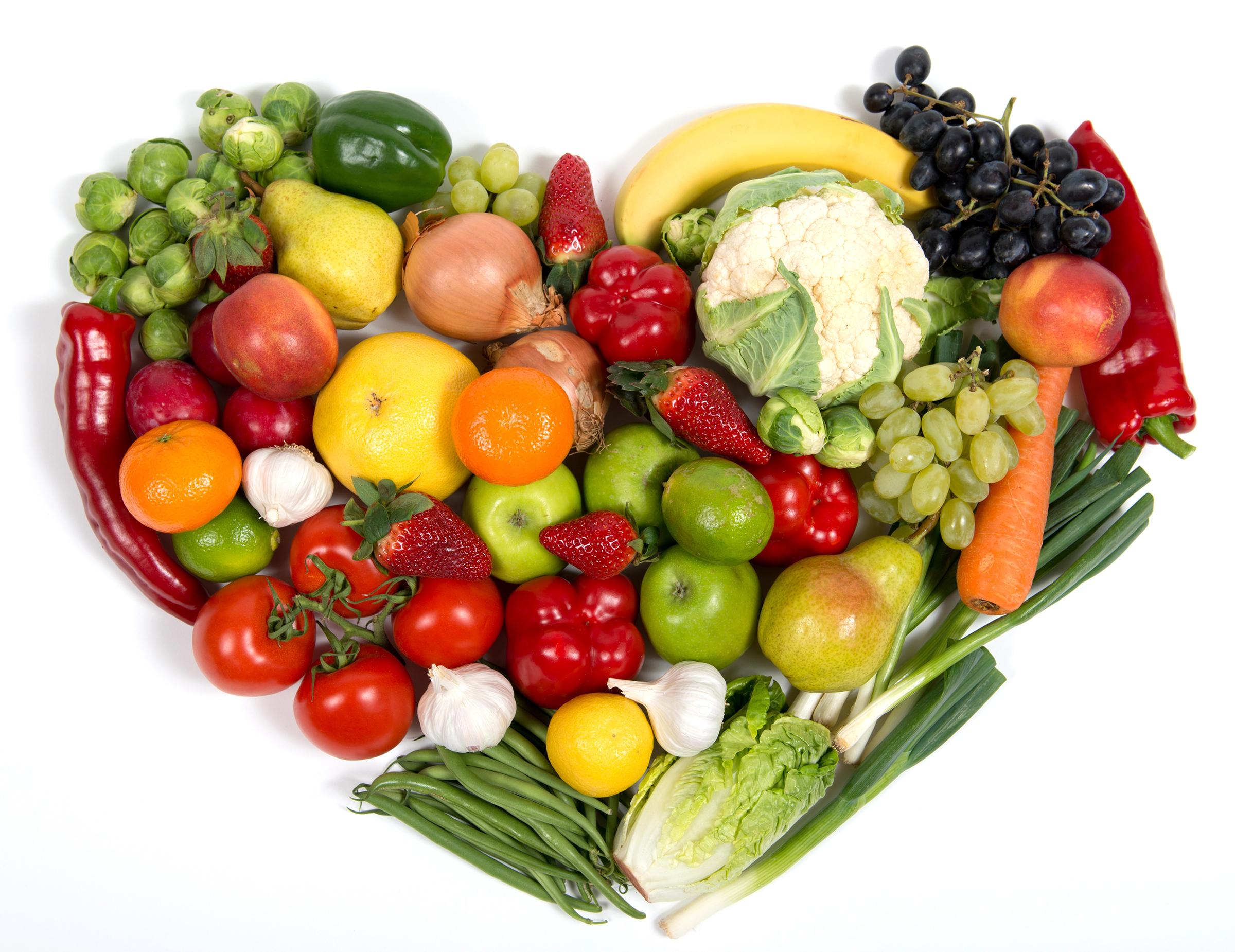 Fruits And Vegetables Heart   Unique Wallpaper 2400x1850