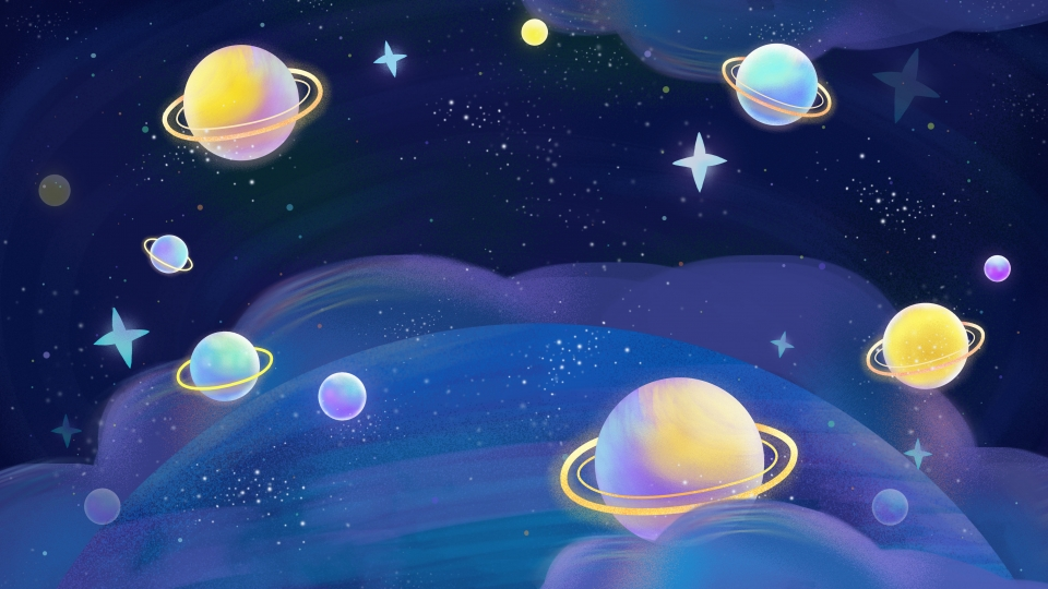 Cartoon Space Planet Background Cartoon Outer Space Background 960x540