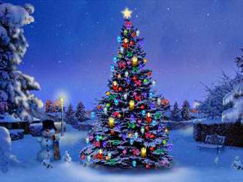 Christmas Tree 3D Screensaver 500x375