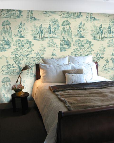 Sanderson Toile Fox Hunting Wallpaper Roomset 480x600