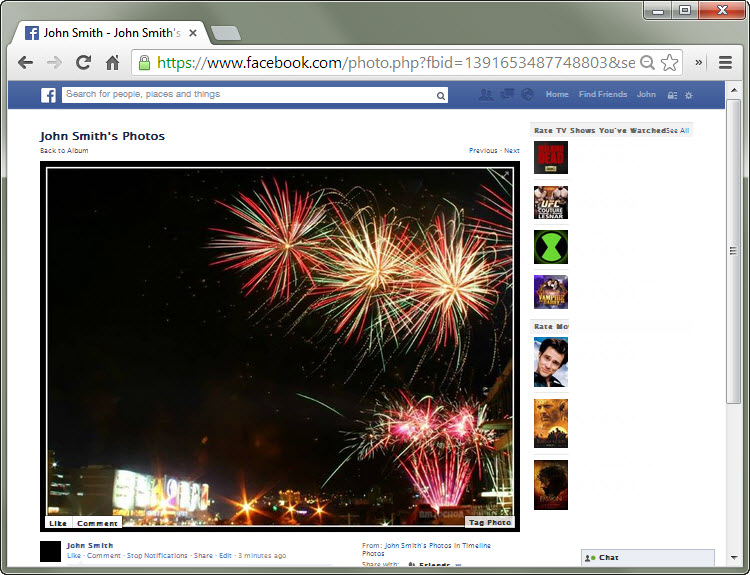 How to Get Rid of the Black Background when Viewing Facebook Photos 750x575