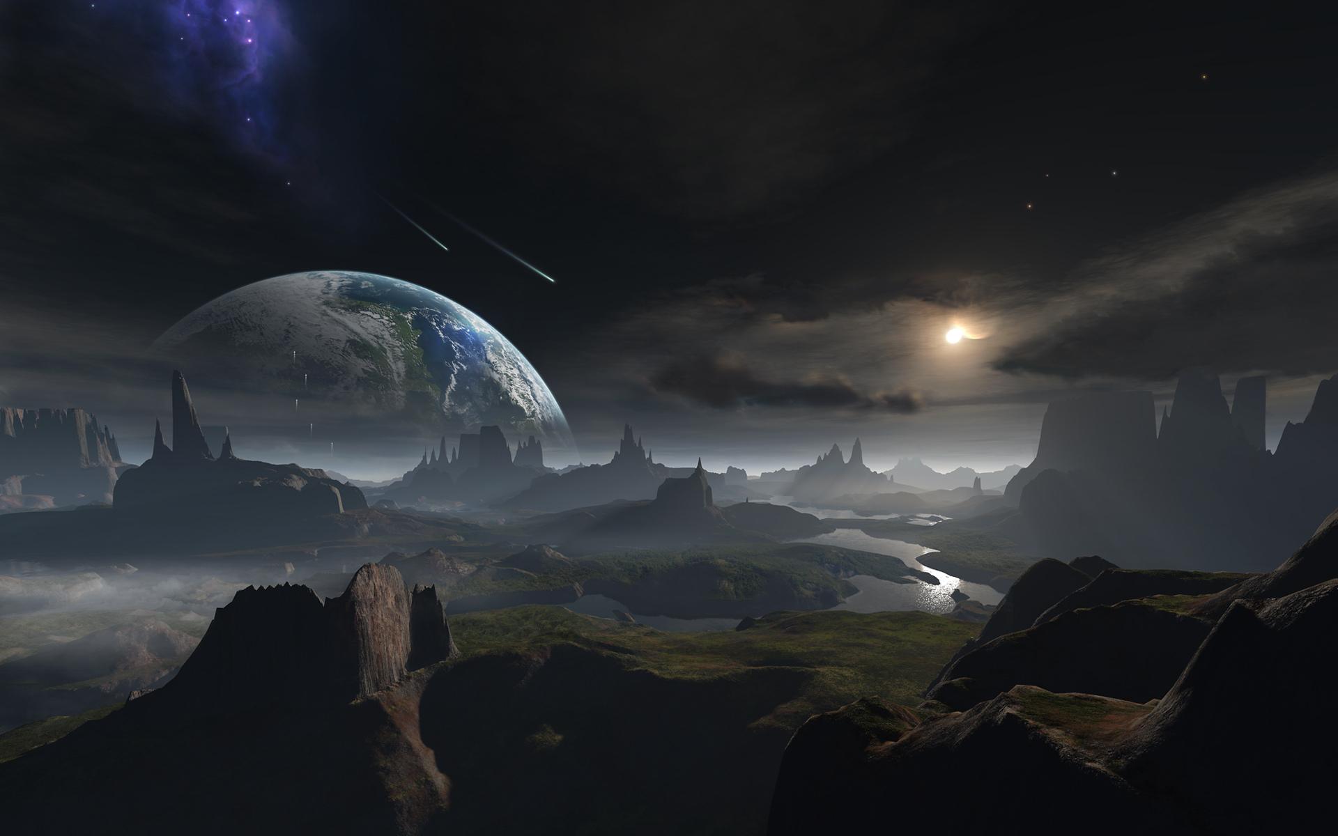 Sci Fi Wallpaper 2560x1440: Sci Fi Landscape Wallpaper HD