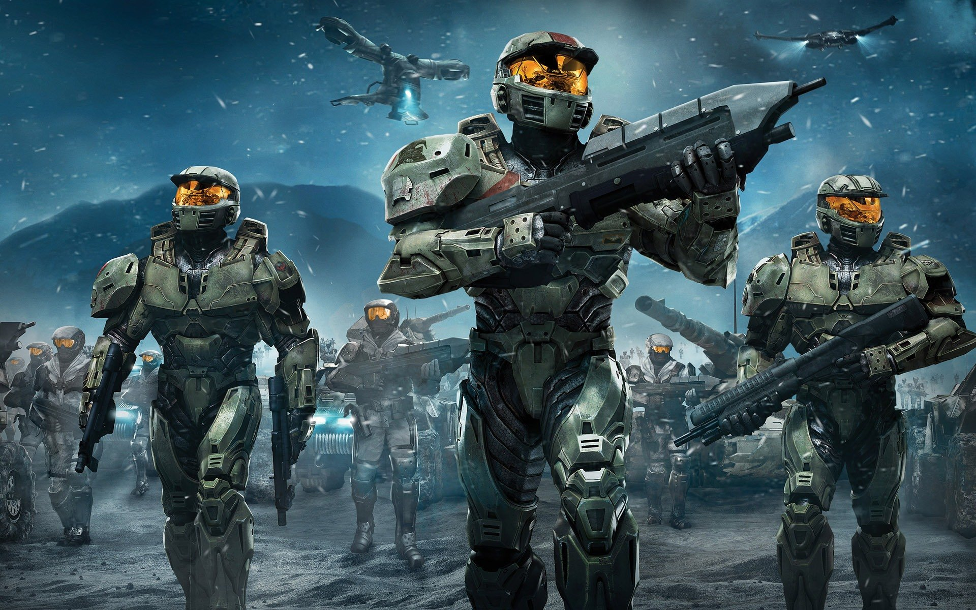 Halo Wars Spartans desktop wallpaper 1920x1200
