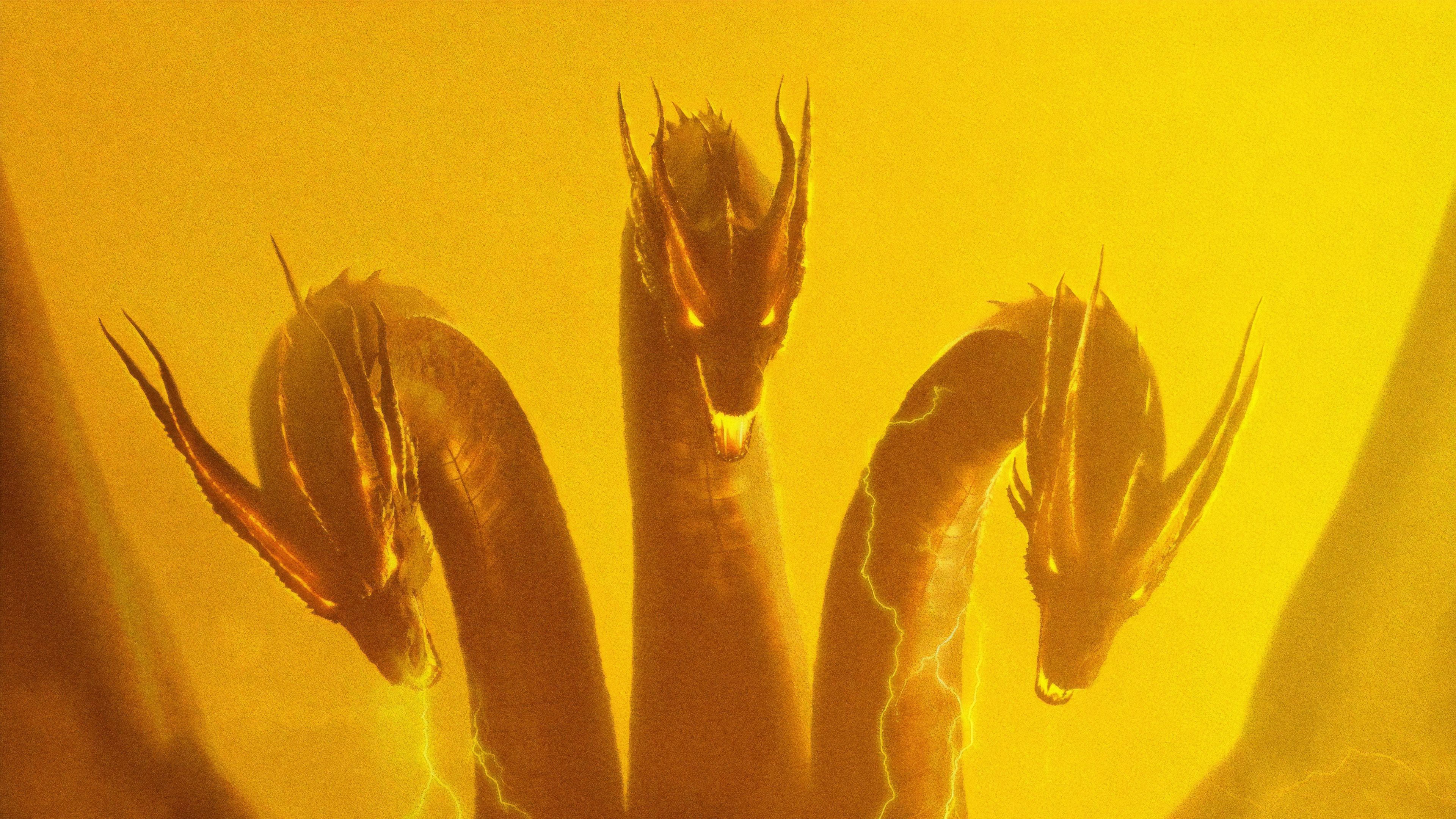 Ghidorah Godzilla King Of The Monsters 4k poster wallpapers 3840x2160