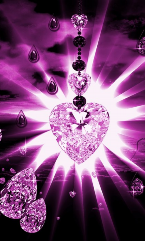 Pink Diamonds Live Wallpaper 10 screenshot 2 480x800