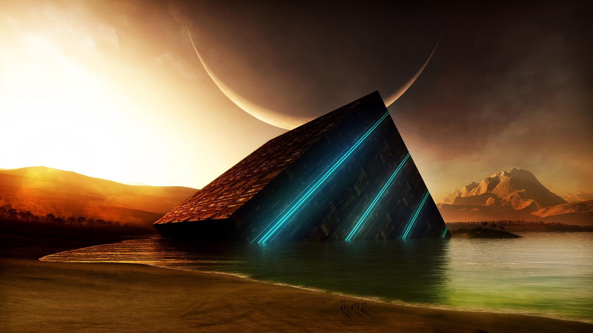 ... Sci Fi Landscape Wallpaper HD 4 High Resolution Wallpaper Full Size