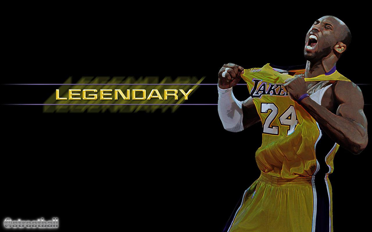 Kobe Bryant Legendary Basketball Wallpaper Desktop Backgrounds for 1280x800