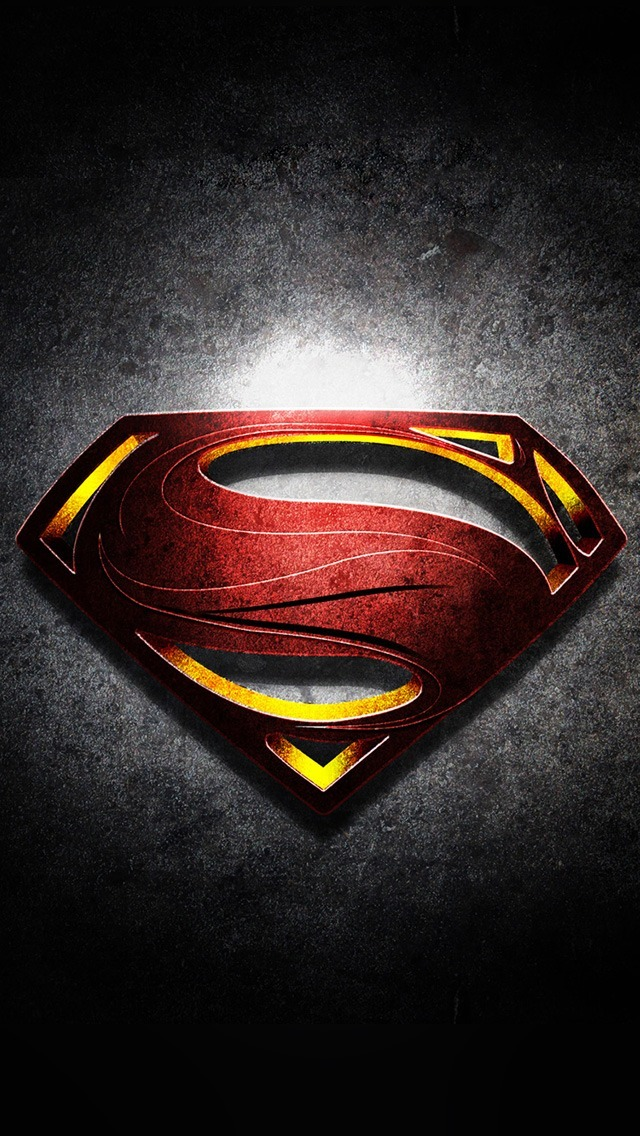 Freeapplewallpaperscom883 Superman Logo With Noise Background 640x1136