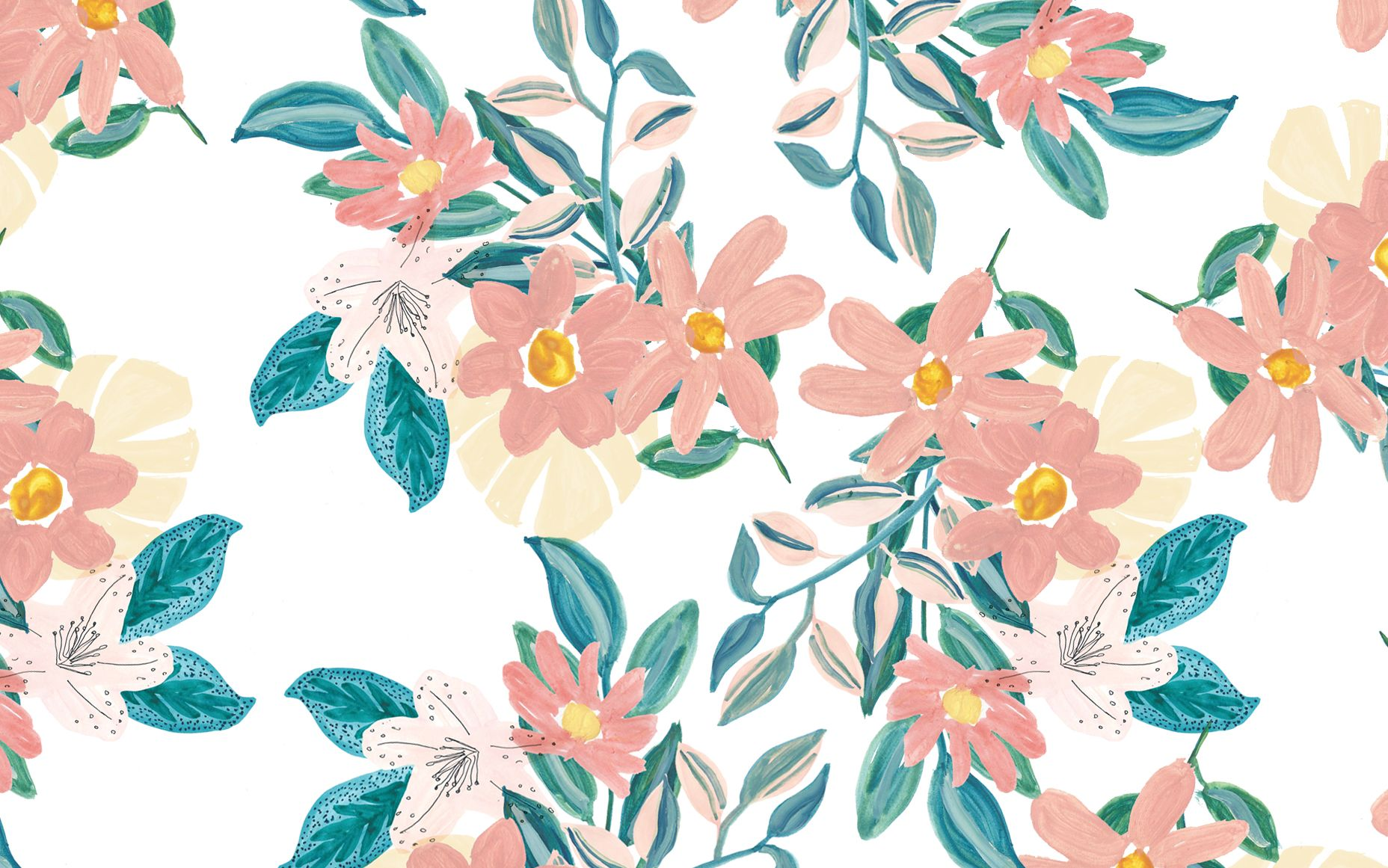 Free Download Spring Floral Desktop Wallpaper Designlovefest Art