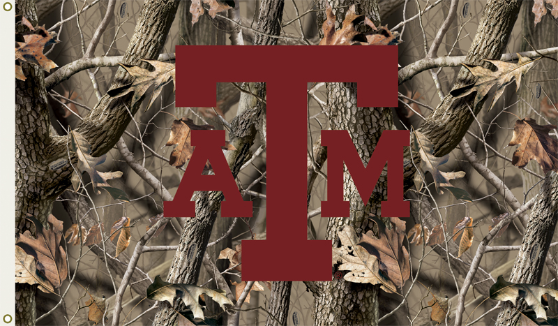 TEXAS A and M AGGIES Camo Flag 800x467