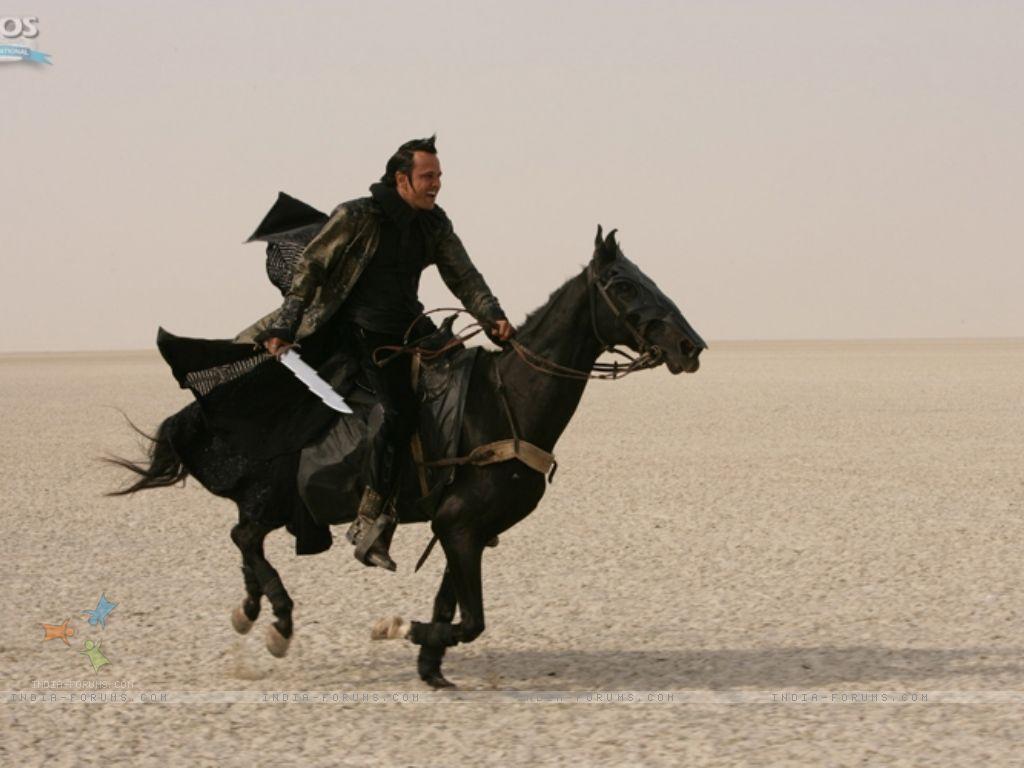 Wallpaper   Kay Kay Menon sitting on a black horse 11332 size 1024x768