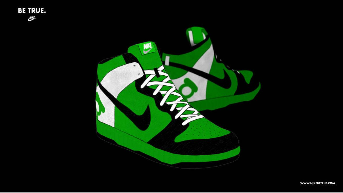 Green Nike Wallpapers 1190x671