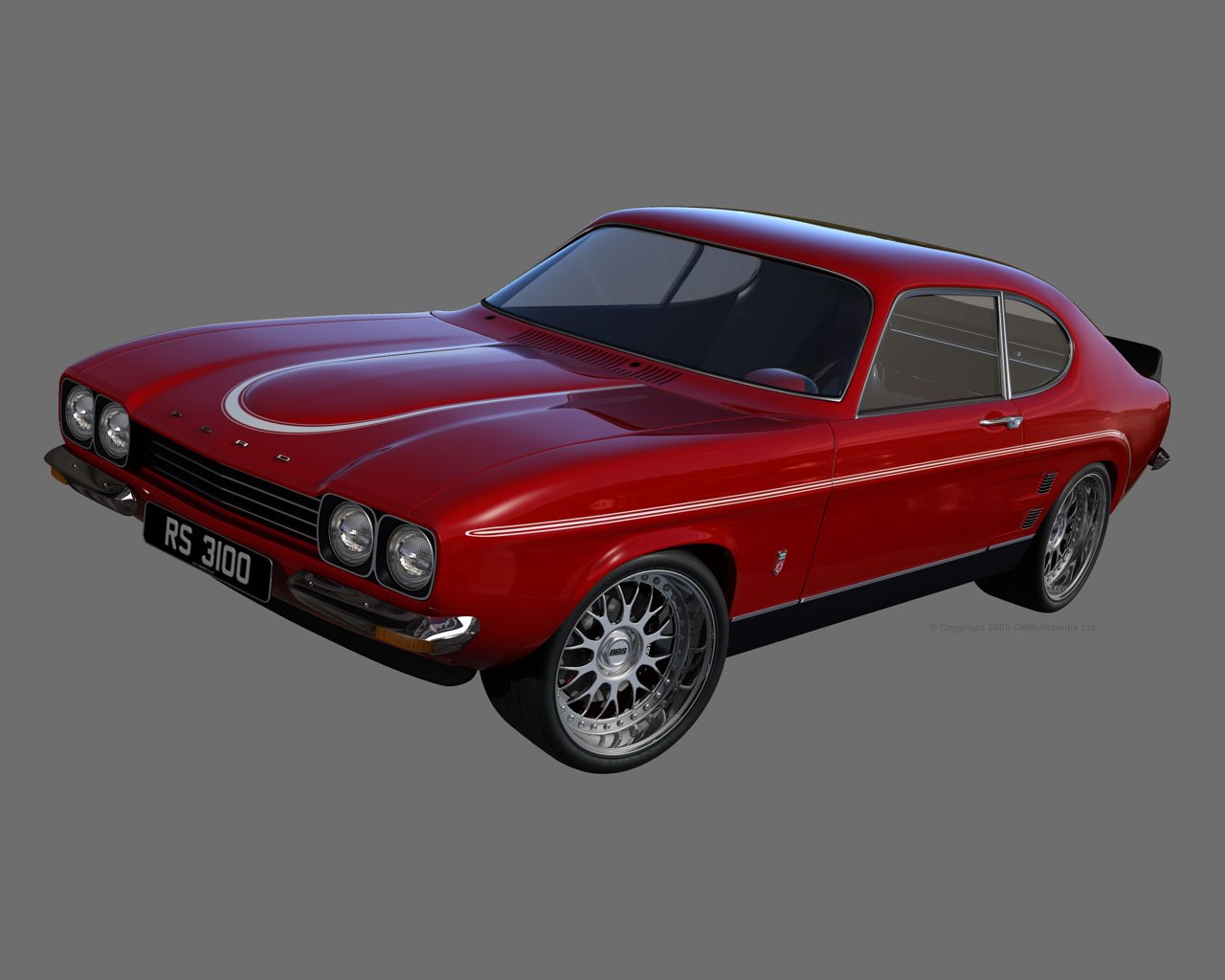 D M Multimedia 3D Cars Capri MKI Capri MK1 Wallpapers 1280x1024