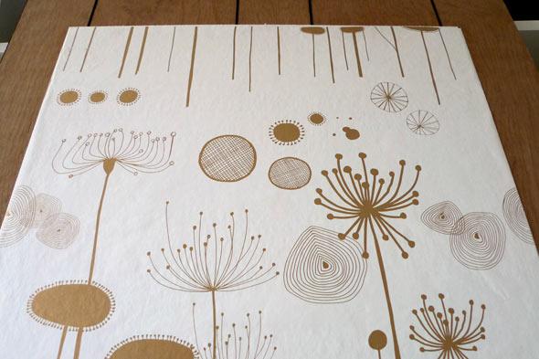 wallpaper over wood paneling 590x393