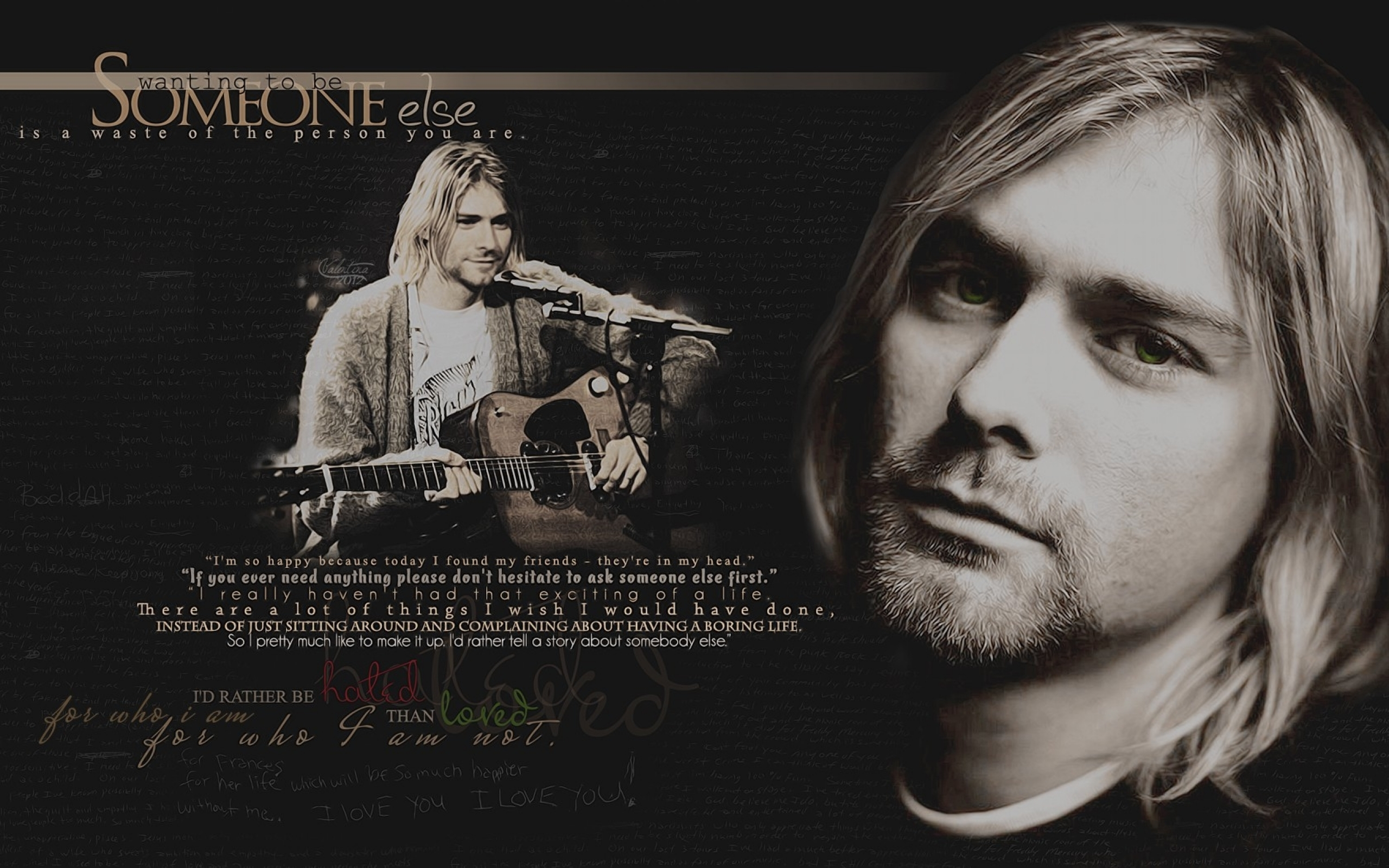 23 Kurt Cobain Quotes Wallpaper On Wallpapersafari